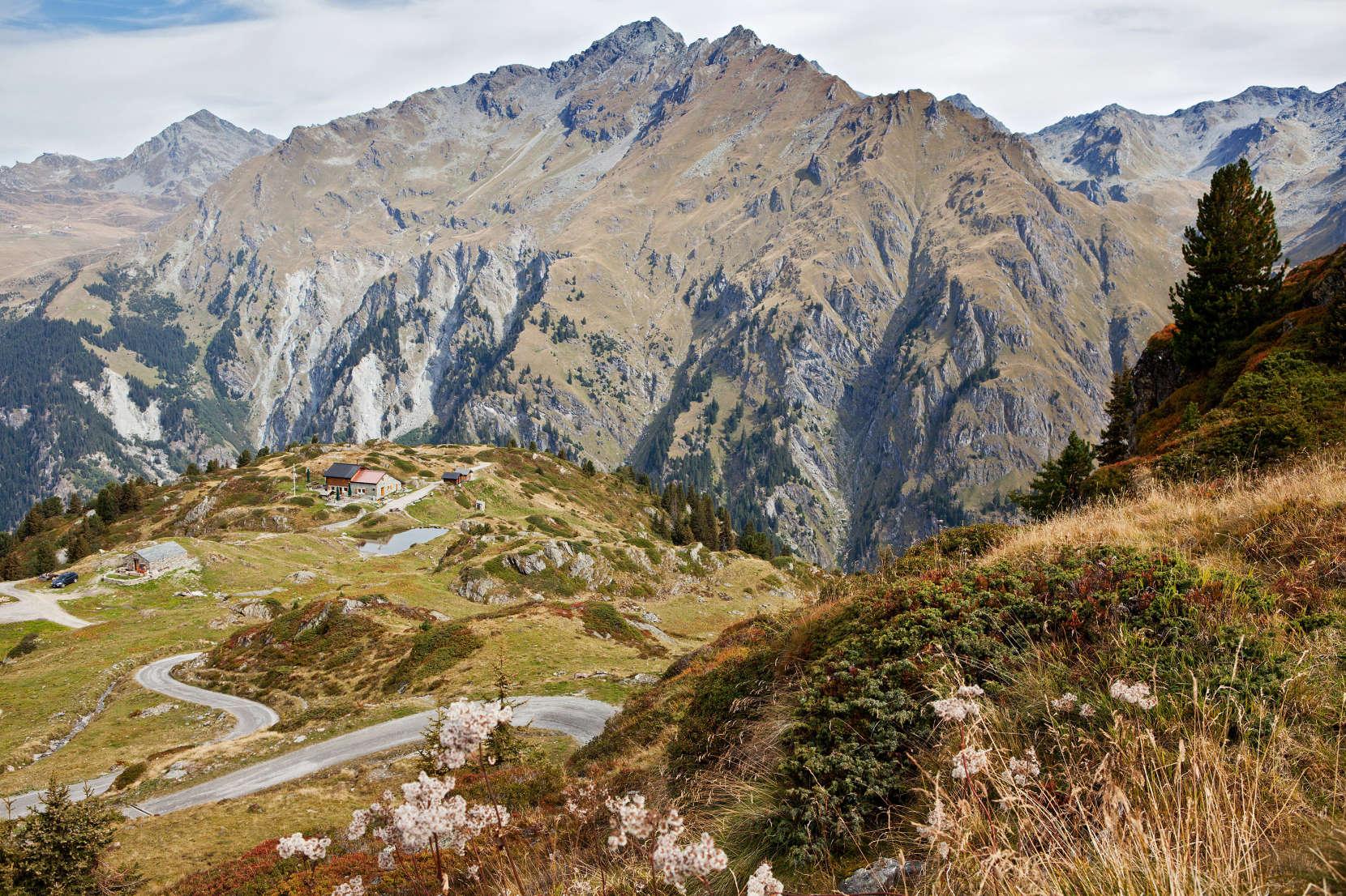 Cabane Brunet (2103 m) - Ausgangspunkt für die Ersteigung des Mont Rogneux über den Ost-Grat.