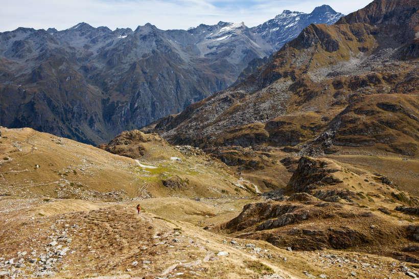 Aufstieg von der Cabane Brunet zum Mont Rogneux.