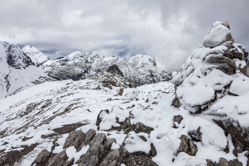 La Veudale (2491 m) - im Hintergrund Tour Salliere, Fontanabran, Les Ottans und Bel Oiseau