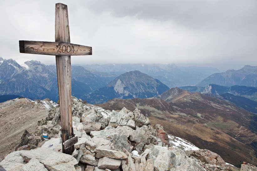 Gipfelkreuz des Mont Rogneux