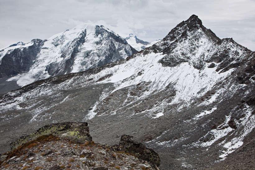Combin-Gruppe: Petit Combin (3663 m), Grand Combin (4314 m) und Grand Laget (3133 m)