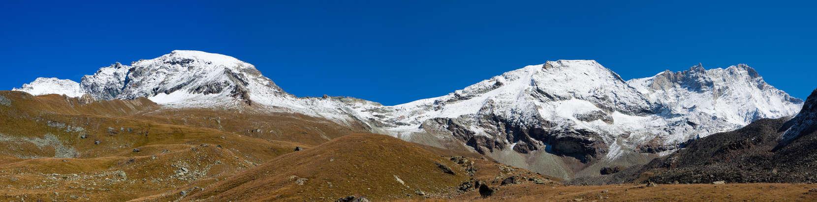 Les Diablons, Col de Tracuit, Cabane de Tracuit, Tête de Milon, Bishorn, Gd Gendarme, Weisshorn