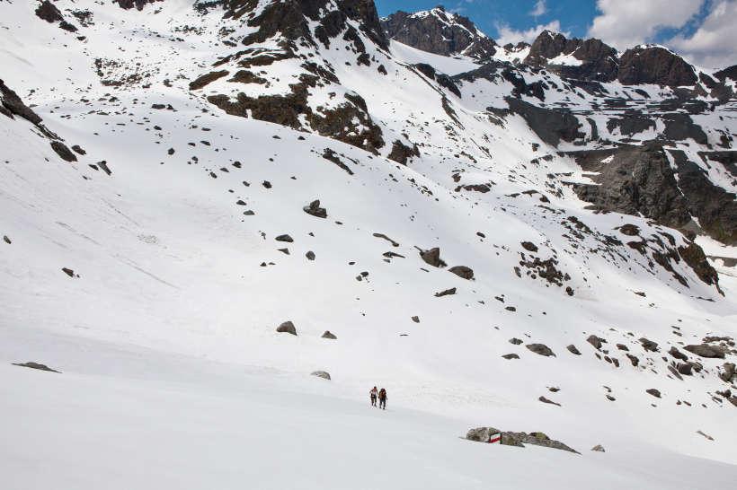 Aufstieg zum Col des Roux