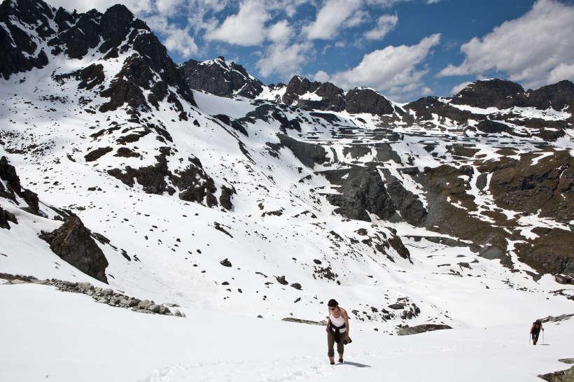 Aufstieg zum Col des Roux (2804 m)