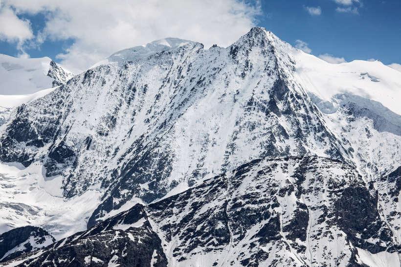 Mont Blanc de Cheilon (3870 m), Glacier de Cheilon, Col de Cheilon, La Luette, Glacier du Giétro, La Ruinette