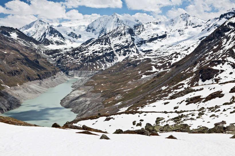 Val des Dix: Lac des Dix; La Cassorte; Pigne d´Arolla; Glacier de Cheilon; Mont Blanc de Cheilon; La Serpentine; La Ruinette; La Luette; Le Pleureur