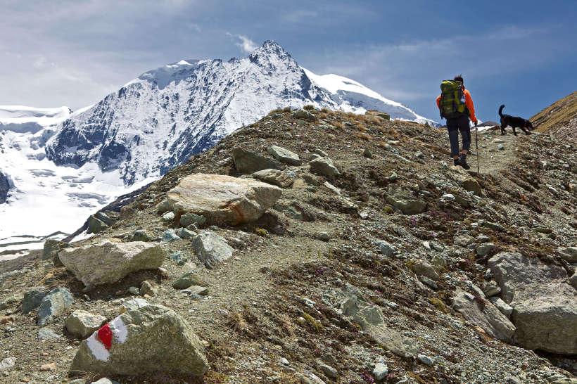 Val des Dix: Glacier de Cheilon, Mont Blanc de Cheilon, Glacier du Giétro