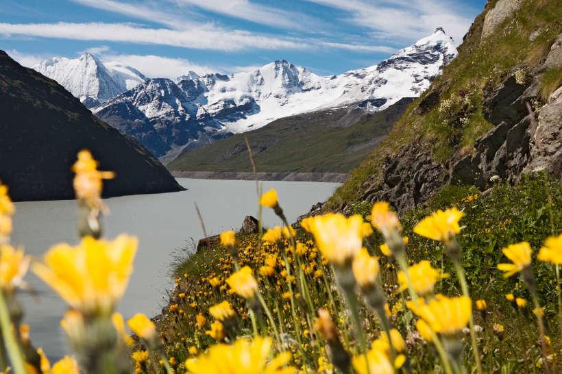 Val des Dix: Lac des Dix, Mont Blanc de Cheilon, Sex Quinaudoz, La Ruinette, La Luette, Les Clochers, La Salle