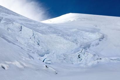 Allalinhorn-Nordwand mit Feegletscher