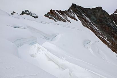 Gletscherspalten Feegletscher, Feechopf, Alphubeljoch, Alphubel.