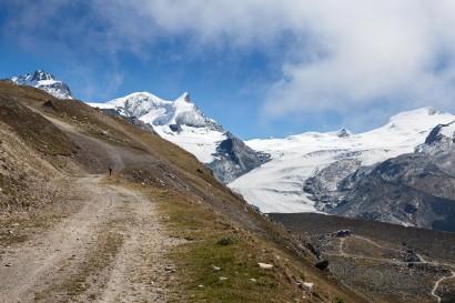 Blauherd - Oberrothorn: Pistenweg zur Furggji