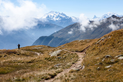 Belalp Sparrhorn: Blick nach Süden (Mischabel)