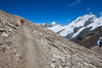 Aufstieg zum Oberrothorn: Allalinhorn, Rimpfischhorn