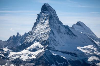 Matterhorn 4478 m vom Oberrothorn (Punta Gastaldi, Matterhorn, Hörnligrat, Dent d'Hérens)