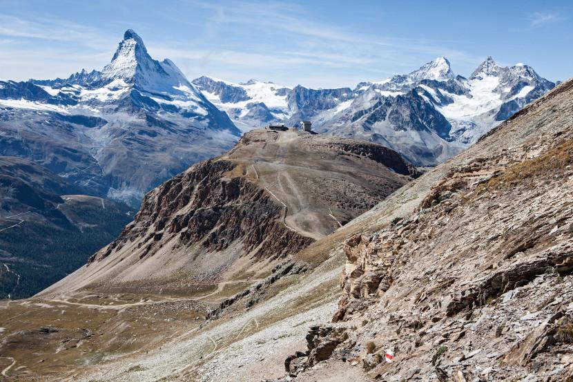 Blauherd - Oberrothorn: Matterhorn, Dent d´Hérens, Grand Combine de Grafeneire, Unterrothorn, Dent Blanche, Ober Gabelhorn