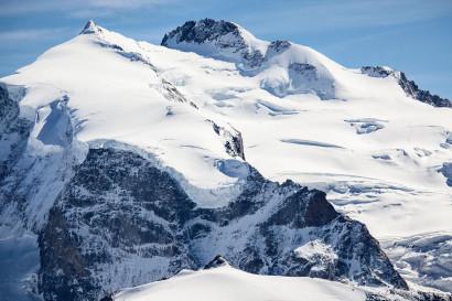 Monte Rosa Dufourspitze (4634 m), Nordend, Monte Rosagletscher