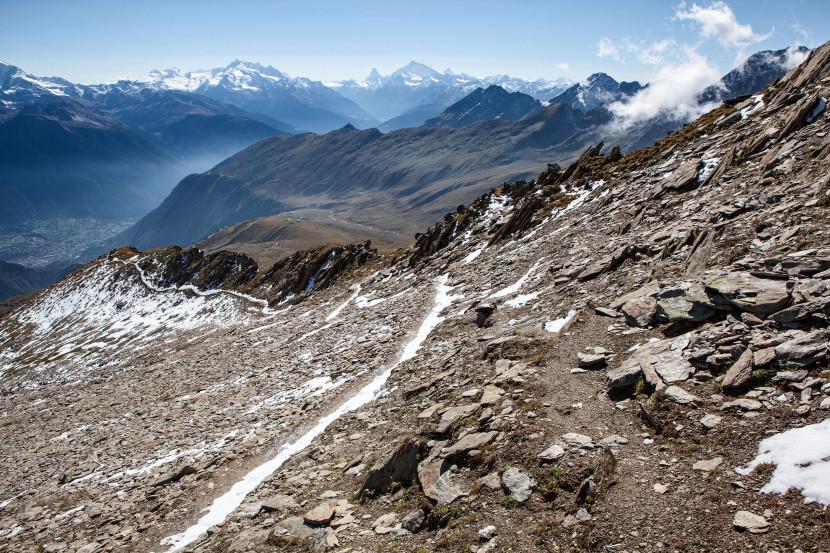 Wanderweg Belalp - Sparrhorn, Blick nach Süden