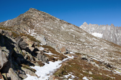 Sparrhorn Südseite, Gross Fusshorn, Fusshörner, Wallis, Schweiz, Valais, Switzerland