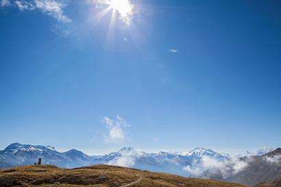 Belalp Sparrhorn: Panorama mit Tyndalldenkmal