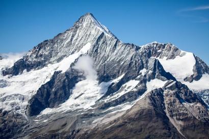 Vom Oberrothorn: Weisshorn, Bishorn, Punta Burnaby, Wisse Schijen, Schaligletscher
