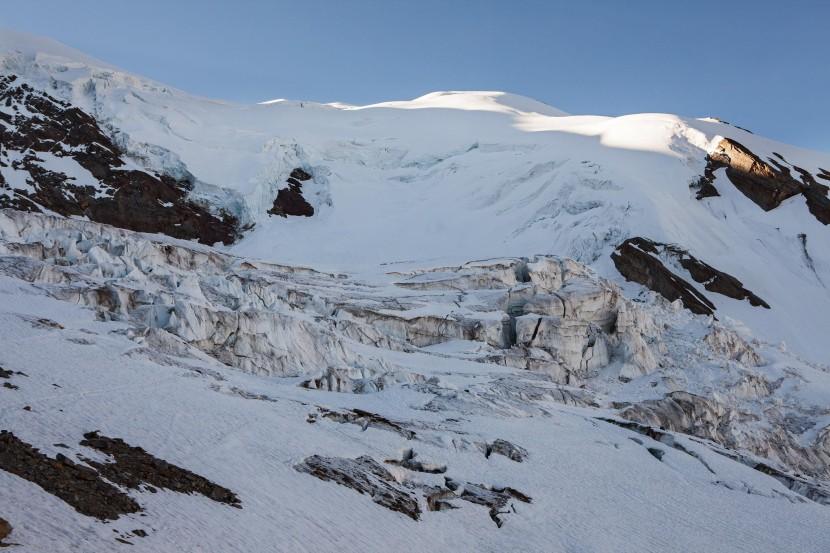 Weissmies (4017 m), Triftgletscher, Seracs
