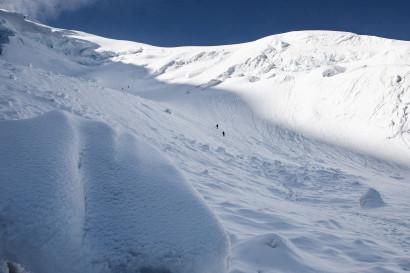 Weissmies (4017 m), Triftgletscher, Nordwestflanke