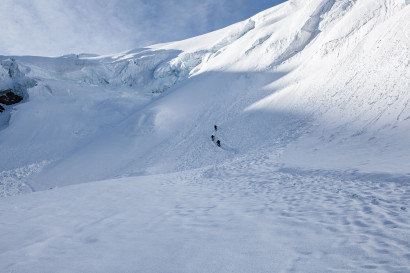 Triftgletscher, Nordwestflanke, Seracs