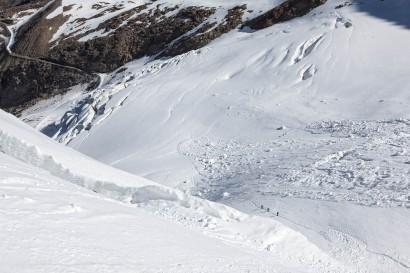 Triftgletscher - Seracs, Spalten und Lawinen