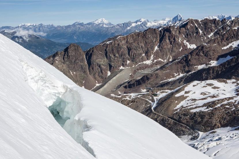 Triftgletscher, Nordwestflanke, Jegihorn, Rinderhorn, Balmhorn, Hohsaas, Doldenhorn, Bietschhorn