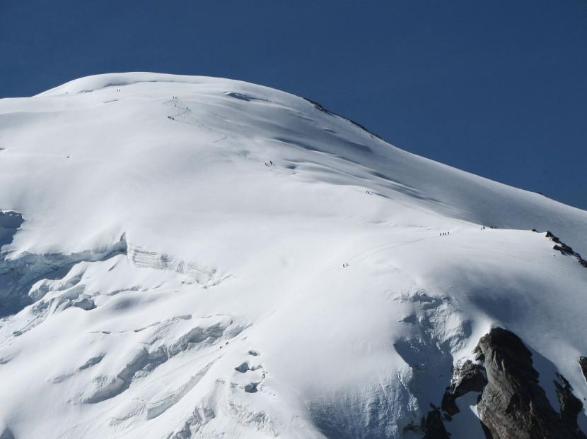 Hohsaas - Weissmies (4017 m): Nord-West-Passage, Weissmies Vorgipfel, Triftgletscher, Nordwestflanke