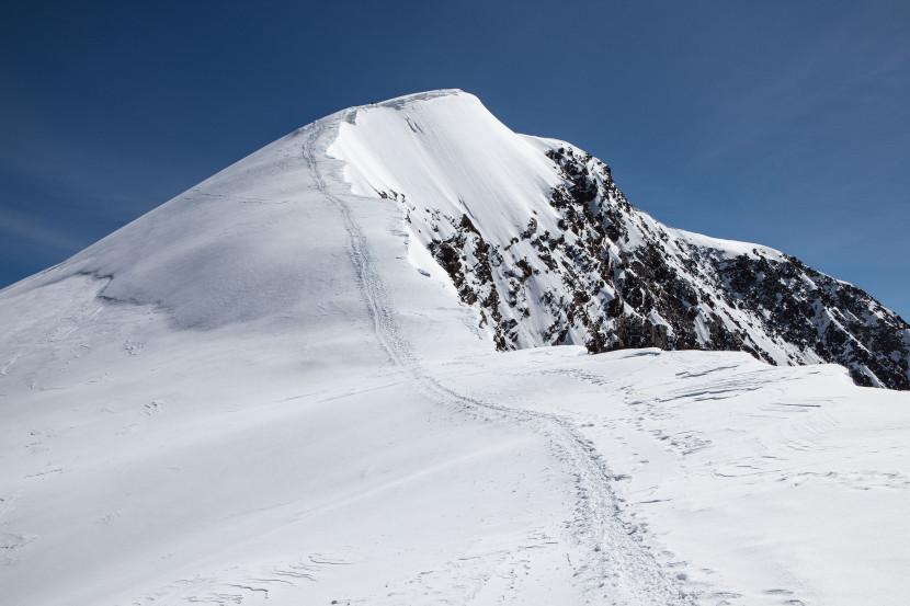 Weissmies (4017 m) Gipfel, Triftgrat