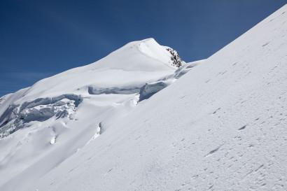 Weissmies (4017 m), Triftgletscher, Nordwestflanke, Triftgrat