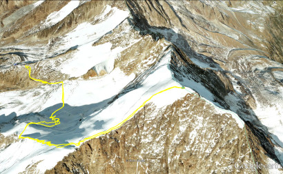 Google-earth: Hohsaas -Weissmies
