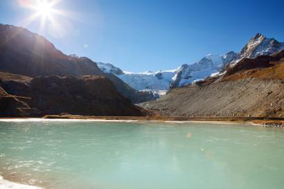 Ausgangspunkt der Tour: Lac de la Bayenna mit Glacier de Moiry