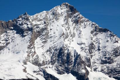 Weisshorn (4506 m) Westseite mit Grand Gendarme