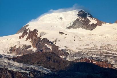 Anstieg vom Alphubeljoch zum Feechopf mit Allalinhorn (4027 m) und Feegletscher