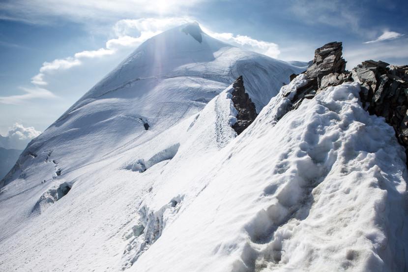 Allalinhorn (4027 m) und Feegletscher