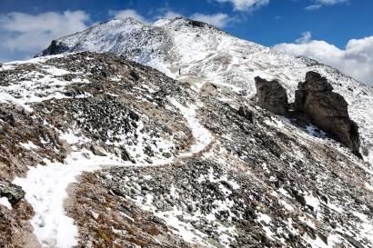 Tignousa - Bella Tola: Anstieg zur Bella Tola mit etwas Neuschnee im September