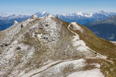Greppon Blanc - Thyon: Panorama-Wanderweg auf dem Grat
