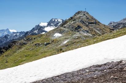 Greppon Blanc (2713 m), im Hintergrund Mont Blanc de Cheilon und Le Metailler