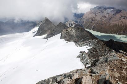 Glacier de Prafleuri und Lac des Dix von La Rosablanche (3336 m)