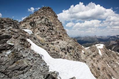 Metailler (3213 m) - Dritter Felsaufschwung am Südgrat mit Vorgipfel