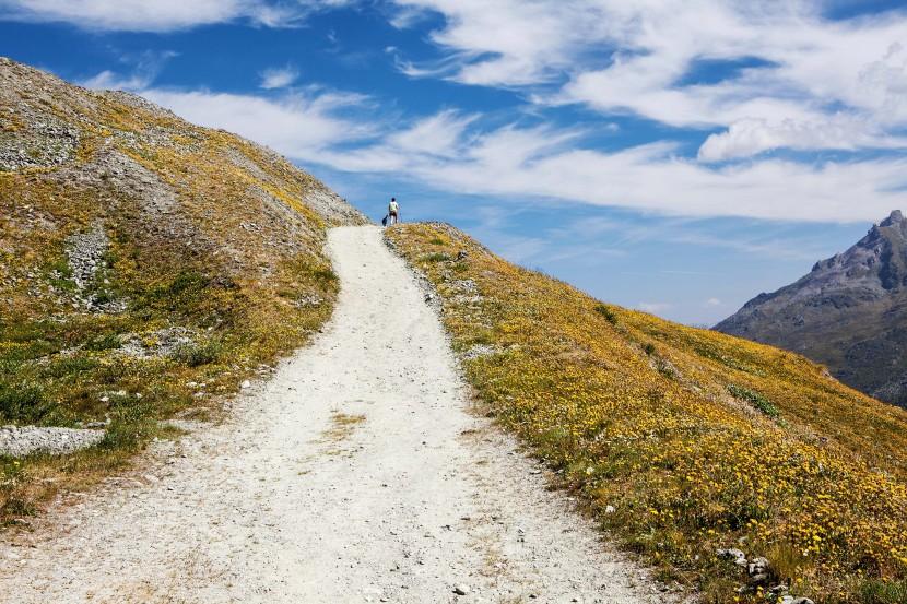 Anstiegsweg vom Lac des Dix ins Combe de Prafleuri