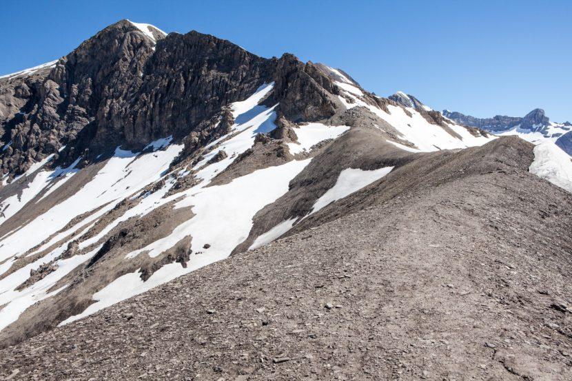 Arpelistock (3036 m) von der Arête de l'Arpille